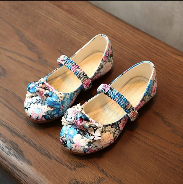 Children Girls Shoes Autumn/spring Kids Baby Embroidered Shoes Casual Princess Shoes Breathable Sneaker Performence Flower Shoes