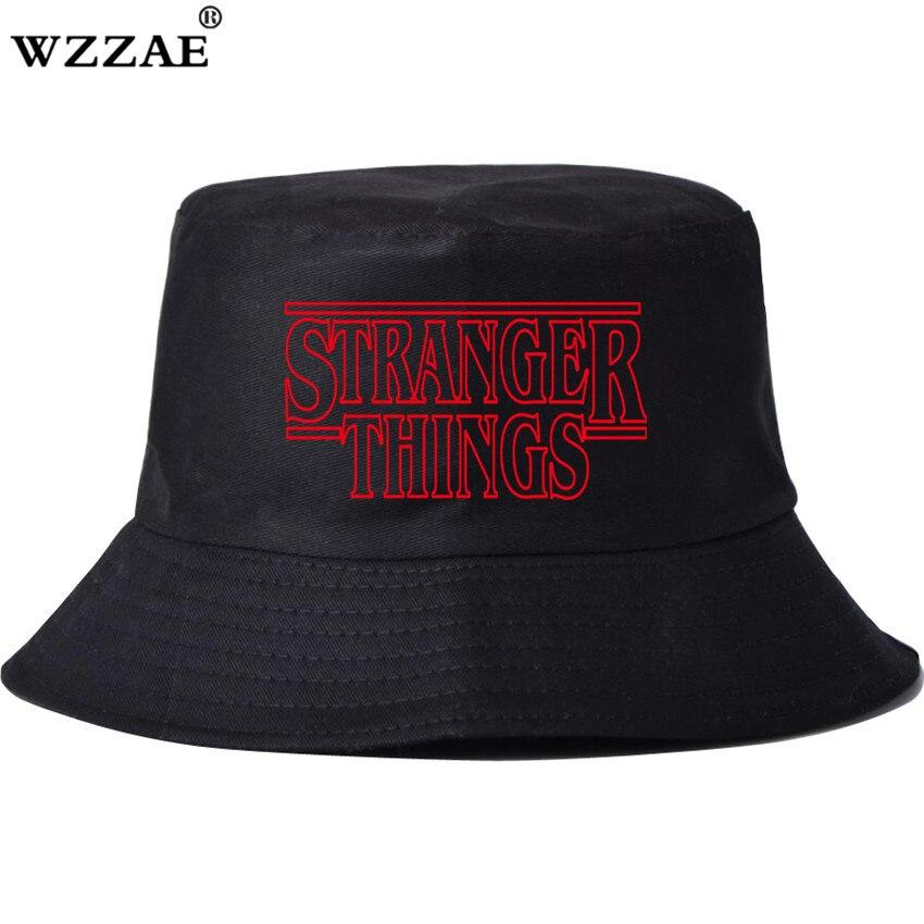2018 New Women Men Stranger Things Bucket Hat Unisex Hip Hop Basin Caps Fisherman Summer Beach Casual Panama Hats Bob Cap
