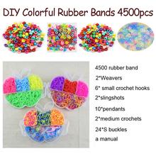 DOLLRYGA Loom Bands Bracelet for Kids Bracelet Weaving Bands Crafts Girl Gift Gum for Weaving Rubber Bands 4500PCS Art and Craft