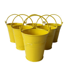 100pcslot cheap d7h7cm yellow mini pails wedding favors small metal buckets tin candy bucket party
