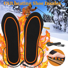 Electric Foot Heated Winter Warmer Insoles Black Sock Heating Skiing Camping outdoor Keep Warm