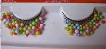 1 pairs End of eye elongated shape 15X Beads dream exaggerated false eyelashes Christmas special Halloween CP12