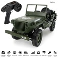 JJRC Q65 1/10 Military RC Jeep 2.4G Full Scale Proportion 4WD 15KM/h Military RC Car Off-road Buggy Car with Drive Lights RTR