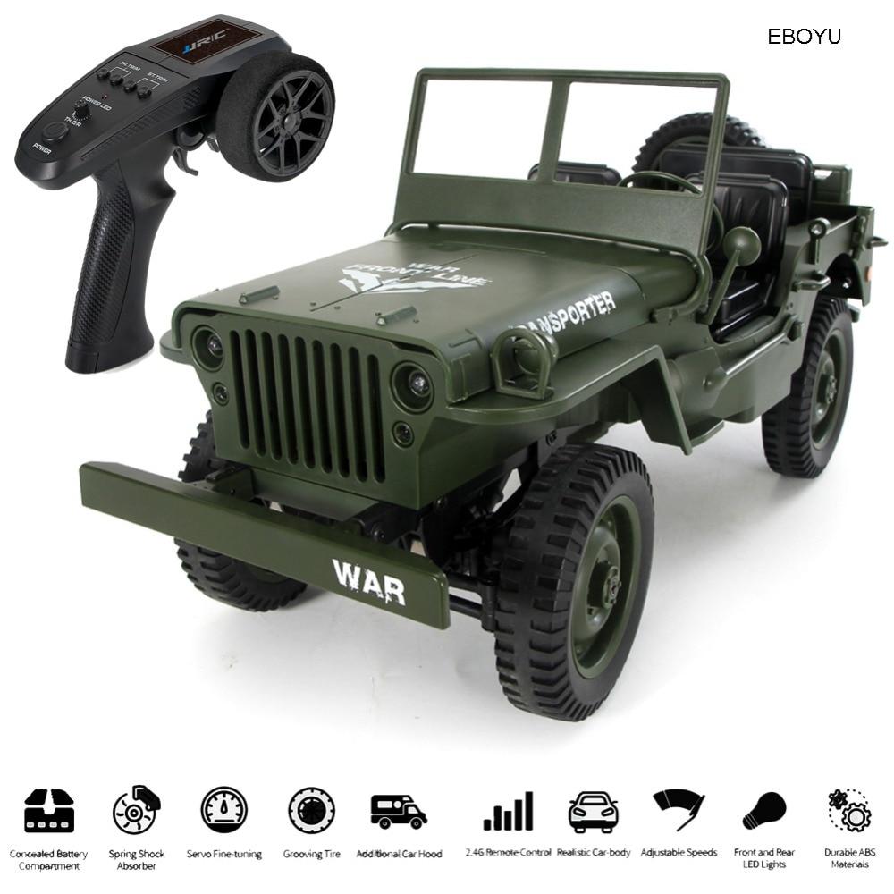 JJRC Q65 1/10 военен RC джип 2.4G пълна пропорция 4WD 15KM / ч военен RC кола оф-роуд количка с шофиране светлини RTR