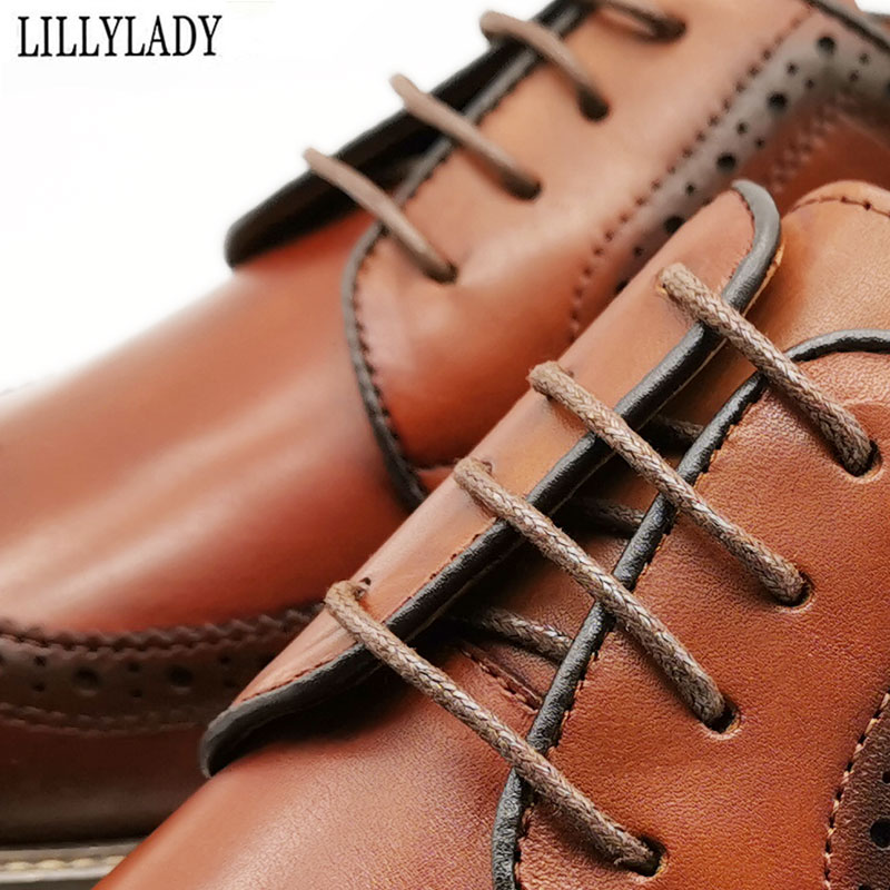 Waxing leather shoes shoelaces boots