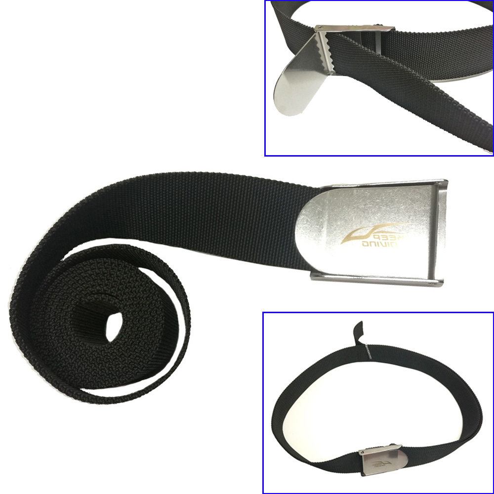 1.5M Scuba Diving Weight Belt Buckle Backplate Harness Webbing Weight Belt For Spearfishing Freediving