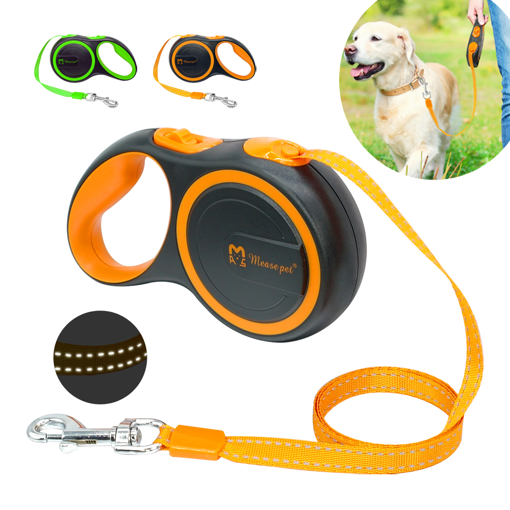 Dog Leash Retractable Automatic Dog Leash Pet Puppy Extending Walking Lead Running Leashes Rope For Small Medium Dogs 3m 5m