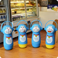 2016 Cute Original Doraemon Thermos 3D Cartoon Cat Stainless Steel Mighty Mug Vacuum Flask  Christmas Gift For Child