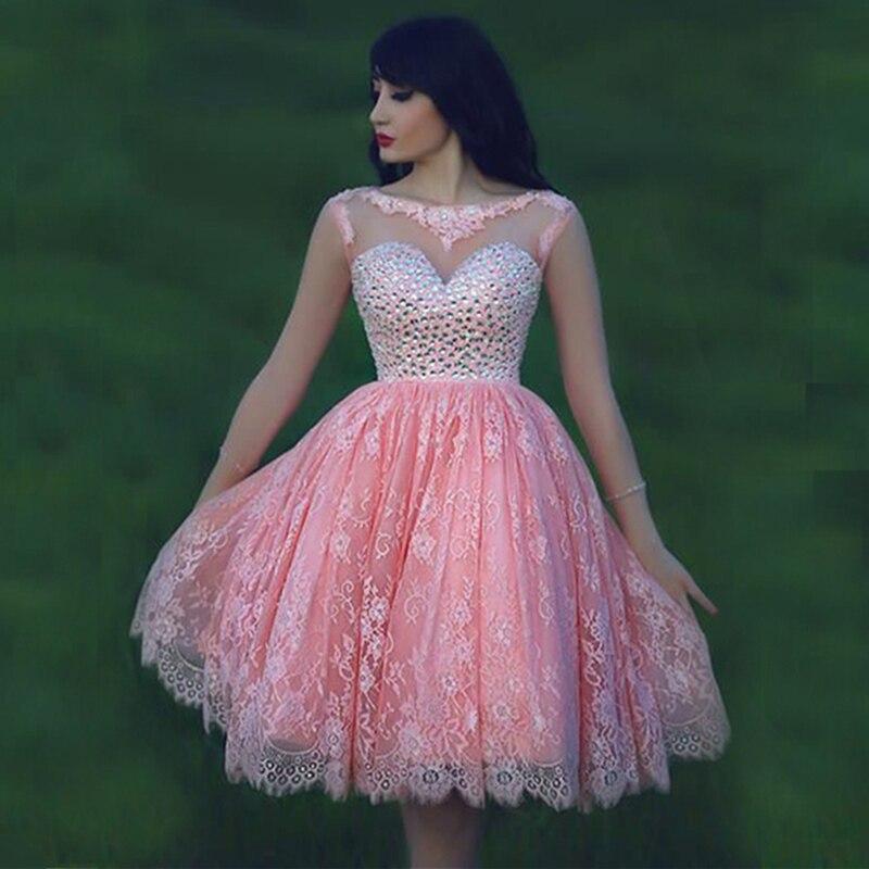 See through Short Prom Dresses