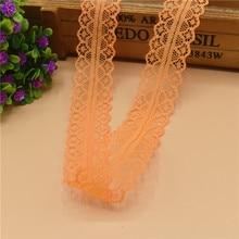 10 метров красивый оранжевый кружево, лента, тесьма 28 мм кружевная бейка ткань своими руками, вышитое Тюлевое кружево для шитья украшение кружевная ткань