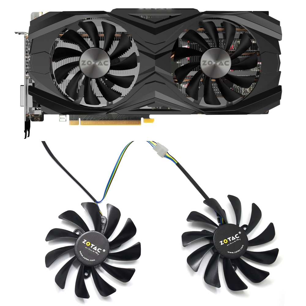 NEW 95mm 42mm 4PIN GTX 1080 Ti AMP GPU Cooler Fan For ZOTAC GeForce GTX 1080 Ti AMP Edition ZT-P10810D-10P Graphic Card Cooling