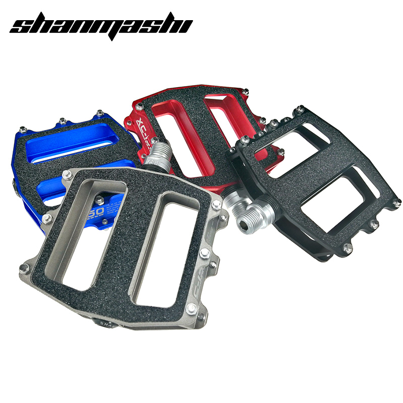 SMS Bicycle Pedal Double Anti slip 3 Bearings Thicker Large Aluminum Alloy MTB Road Bike Pedal Cr mo Axis With Anti skid Patch|bicycle pedal|bike pedals|road bike pedals - title=