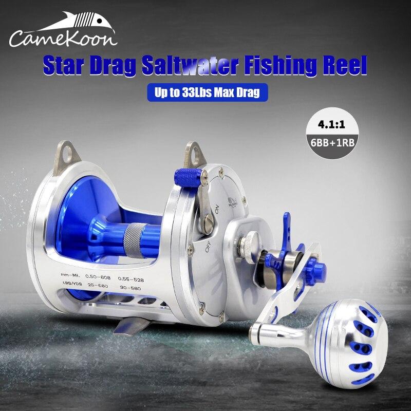 CAMEKOON Trolling Reel Saltwater Star Drag Reels For Sea Big Game Fishing Reels