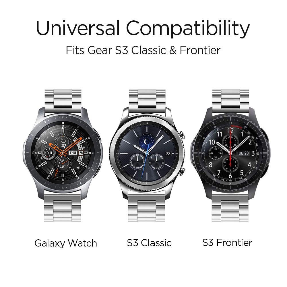 22mm 20mm watch band for samsung galaxy watch 46mm 42mm gear S3 Frontier classic huawei watch gt active strap metal bracelet in Watchbands from Watches