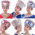 Miao hat hmong Hat  Dong  Dance headdress hmong miao jewelry Chinese folk dance ethnic minority stage performance accessories
