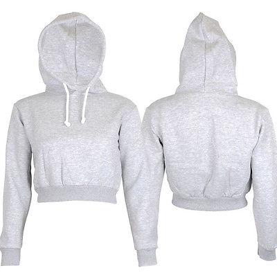 587352cfef568 Fashion Womens Plain Crop Top Hoodie Hooded fullength Sleeves Sweatshirt  Hangover Women Hoodies-in Hoodies   Sweatshirts from Women s Clothing on ...