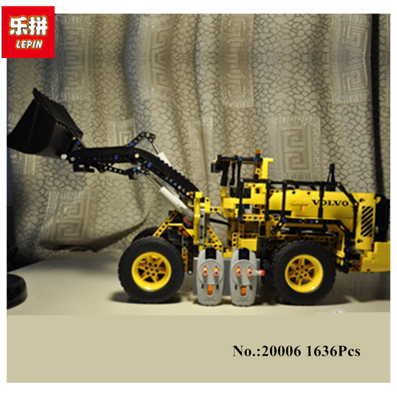 IN STOCK New LEPIN 20006 technic series 1636pcs Volvo L350F wheel loader Model Building Kit  Blocks Bricks Compatible Toy 42030 lepin 20006 technic series volvo l350f wheel loader model building kit blocks bricks compatible with toy 42030