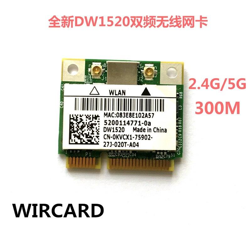 YENI DW1520 Dual Band Kablosuz 300 Mbps Yarım MINI PCI-E BCM943224HMS WIFI Kartı