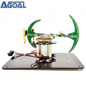Image 2 - DIY dwuosiowy sferyczny obrotowy zestaw LED kreatywny POV lutowania zestaw treningowy