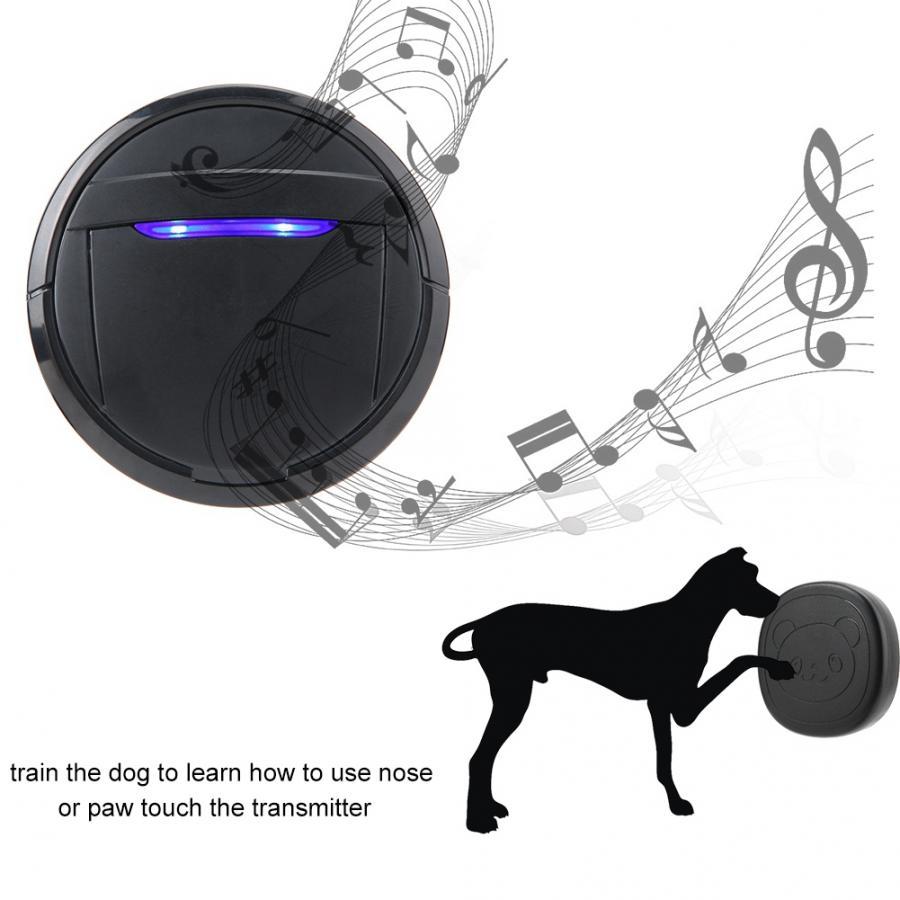 Wireless Touch Button Dog Door Bell Dog Training Older SOS Caller 1 Transmitter 1 Receiver/ 2 Transmitter 1 Receiver-4