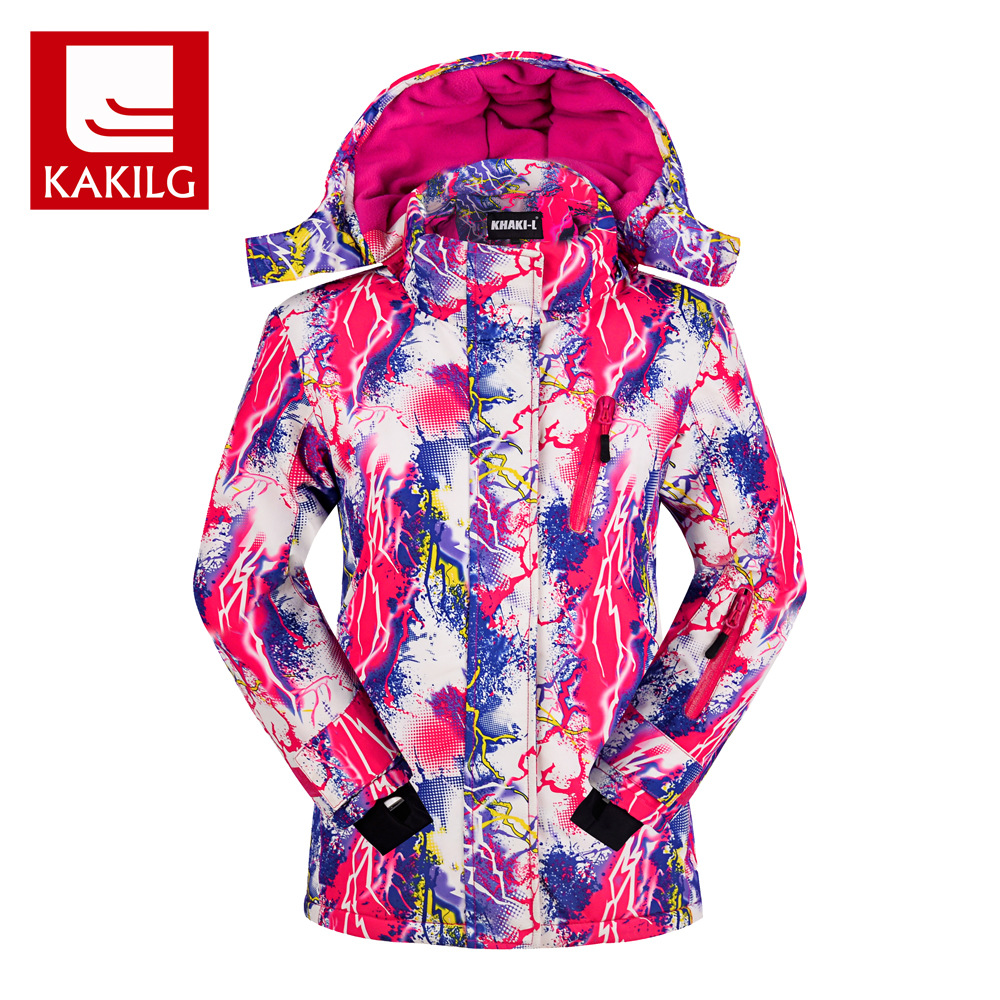KAKILG Winter Outdoor Girls Skiing Jackets Kids Waterproof Ski Jackets Children Windproof Warm Hooded Snowboarding Sports Coat men and women winter ski snowboarding climbing hiking trekking windproof waterproof warm hooded jacket coat outwear s m l xl