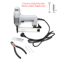 220V Electric Nails Gun F30 Stapler With 300pcs Nails Electric Straight Nail Gun Tool For Frame
