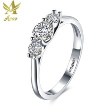 ANGG Trendy Ring Cubic Zirconia Party Wedding Engagement Jewelry Ring Wedding Bands Round Rings for Women
