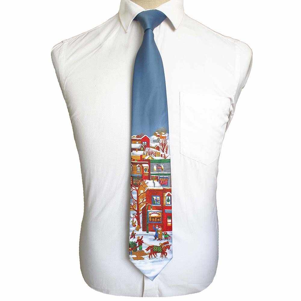 Groleson جودة طباعة عيد الميلاد التعادل الرجال الموضة 9 سنتيمتر الحرير ربطات العنق مهرجان helloتوين التعادل لينة مصمم شخصية ربطة العنق هدية