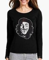 2017 Autumn Promotion Long Sleeve Women Che Vendetta Vintage O Neck Novelty Cotton Kpop Women T