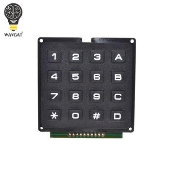 WAVGAT 4x4 Matrix Array 16 klawiszy 4*4 przełącznik klawiatura numeryczna moduł dla Arduino.