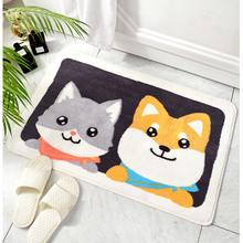 Cute Cartoon Bathroom Mat Absorbent Home Environmental Protection Flocking Mat Door Mat Bedroom Anti-slip Rug pebble series flannel printing home anti slip absorbent entry mat bathroom mat door mat bedside mat