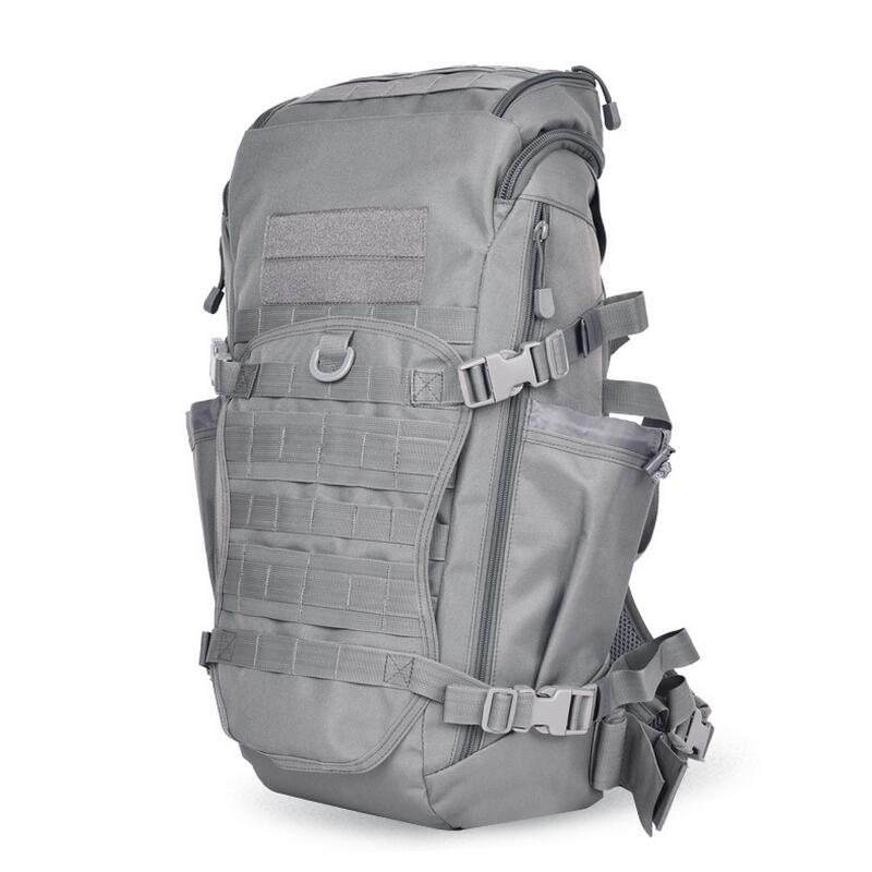 Outdoor hiking sports bag backpack men travel bag camping tactical knapsack computer bag fishing backpack 60L tactical sports backpack molle men patrol rifle gear sports backpack bag hiking fishing climbing 10 colors