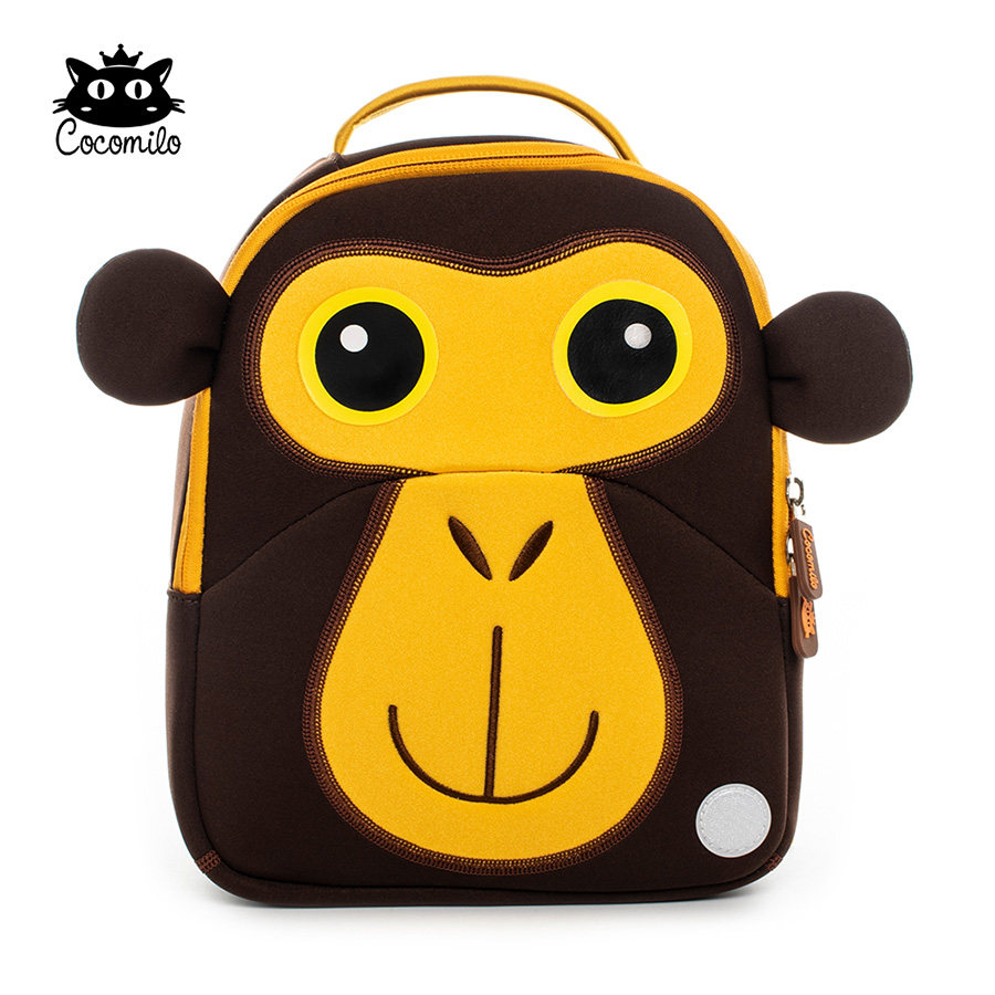 f1ce9871fe Cocomilo Waterproof Kids 3D Cute Monkey Cartoon Toddler Backpack Forest  King Animals Pre School Baby Bags