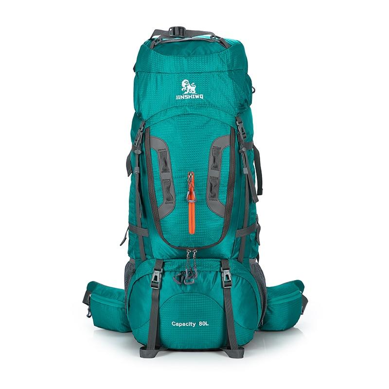 Escalada al aire libre bolsas 80L Nylon marco externo senderismo mochilas Unisex viaje impermeable hombre mujer Camping senderismo mochila