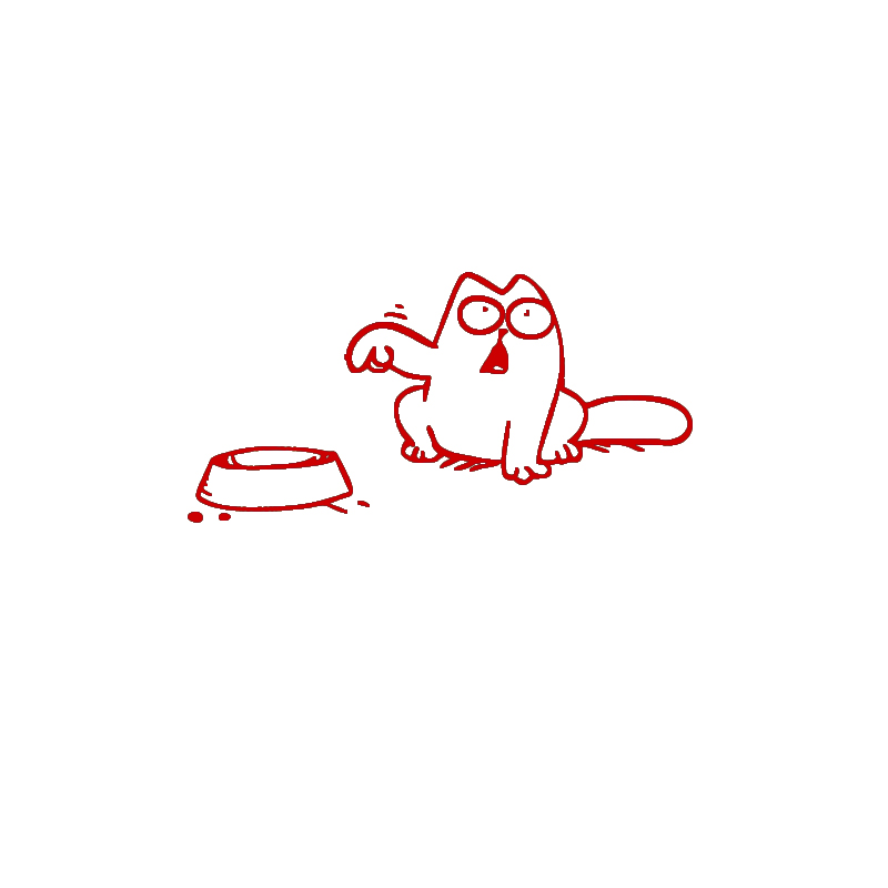 Funny Cartoon Cat Sticker On Car Fuel Cover