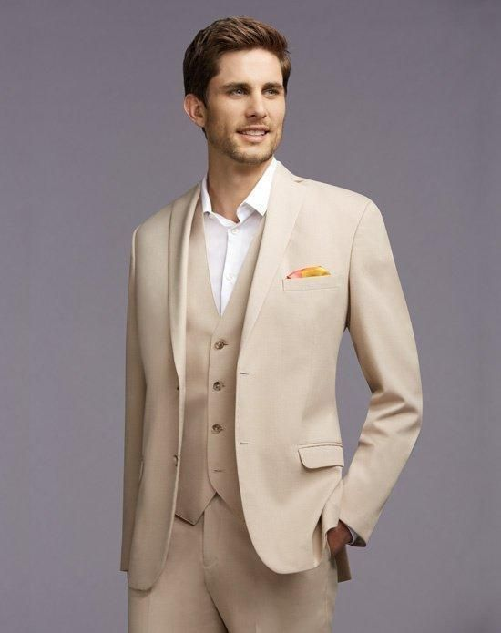 b50620da0d8 Latest Coat Pant Designs Beige Men Wedding Suits Jacket Slim Fit 3 Piece  Tuxedo Custom Groom Blazer Prom Style Suit Masculino