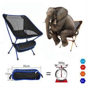Image 1 - Przenośne siedzisko lekkie krzesło wędkarskie szybka rosja Stock stołek kempingowy składane meble ogrodowe przenośny ultralekki fotel