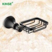 KINSE 현대적인 스타일 황동 비누 접시 벽 마운트 고급 비누