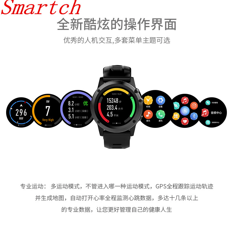 Smartch H1 Smart Watch IP68 Waterproof MTK6572 4GB 512MB 3G GPS Wifi Heart Rate Tracker For Android IOS Camera 500W PK KW88 new h1 smart watch mtk6572 ip68 waterproof 1 39inch 400 400 gps wifi 3g heart rate monitor 4gb 512mb for android ios camera 500w