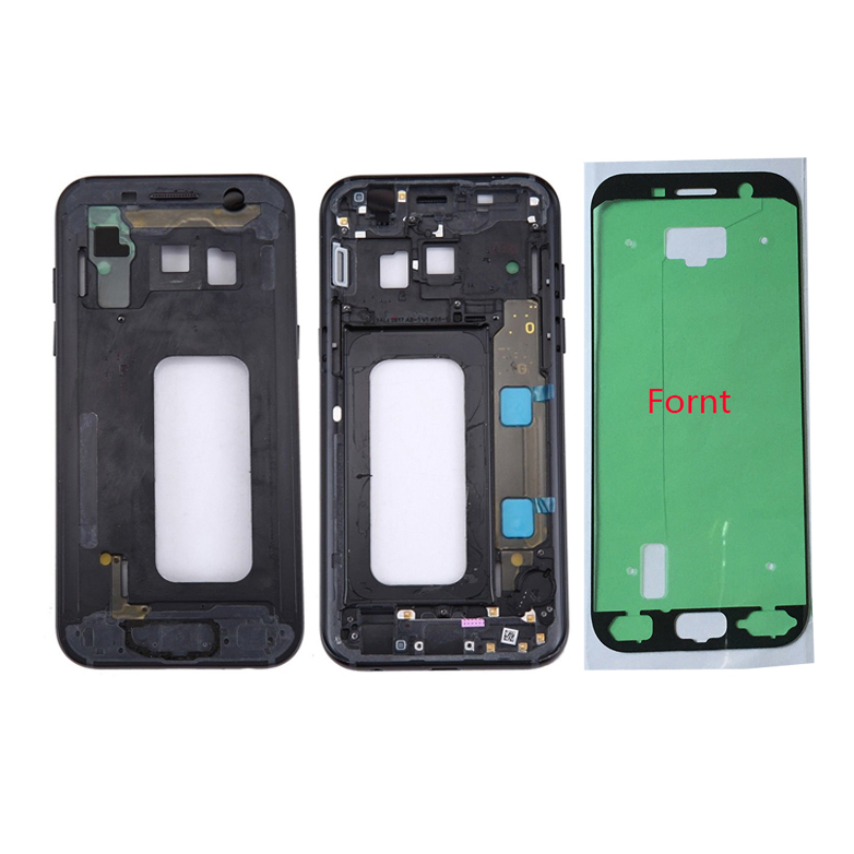 For Samsung Galaxy A5 2017 A520 A520F Original Phone New Metal Housing Middle Frame House Chassis Center Body With Keys + Glue
