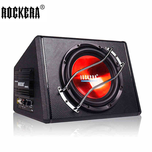 10 inch Active Subwoofer System 4 Ohm Max 500W Car Sub Bass Amplifier Speaker Enclosure Box 12V For Car SUV Home Use