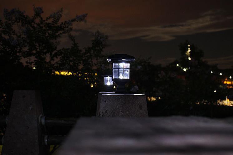 lâmpada solar pilar luz frete grátis