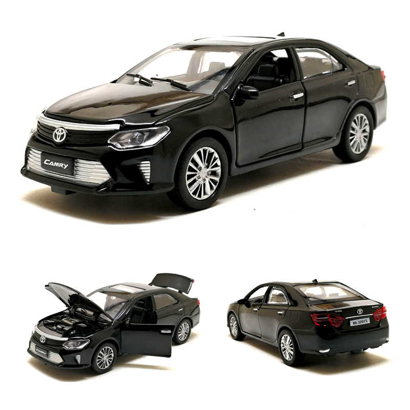 1:32 Scale Toyota Camry Police Taxi Alloy Car Model Vehicle Toy Metal Diecast With Pull Back Sound Light For Children Gifts