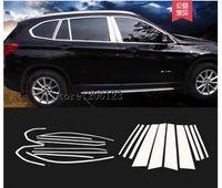 20PCS Car Door Full Window Frame Window Sill Molding Trim Cover For 16 17 18 BMW X1 F48 standard Wheelbase 2016 2017 2018
