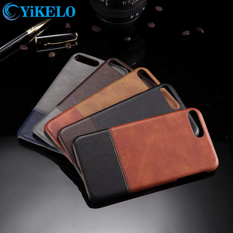 YiKELO Brand High Quality Retro Phone Case For iPhone 7 Plus Luxury PU Leather Hard Back Cover For iPhone 7Plus Cases Fundas