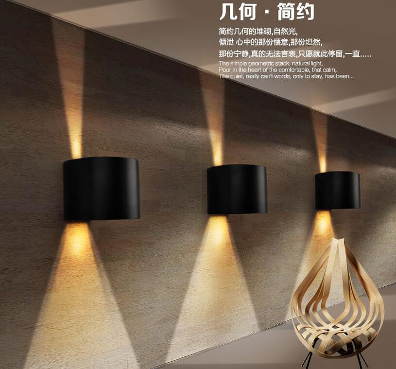 10pcs/lot 9W Dimmable IP65 Outdoor/Indoor LED 220v Outdoor Lighting Wall Lamp Lamps Square Waterproof Sconce Up And Down