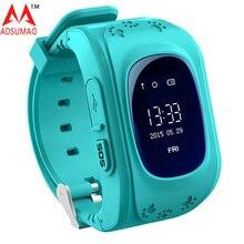 10pcs Q50 GPS Smart Phone Watch Children Kid Wristwatch GSM GPRS Locator Tracker Anti-Lost Smartwatch Child Guard DHL free
