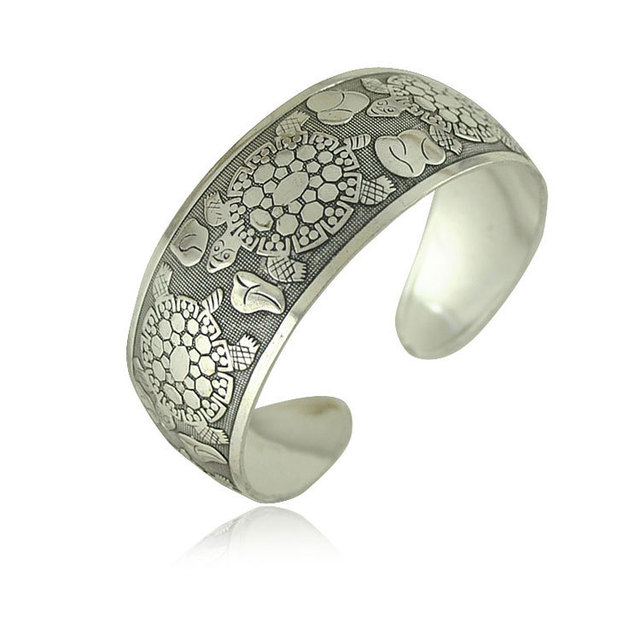 Vanessa-Antique-Silver-Plated-Bracelets-Cuff-Bangle