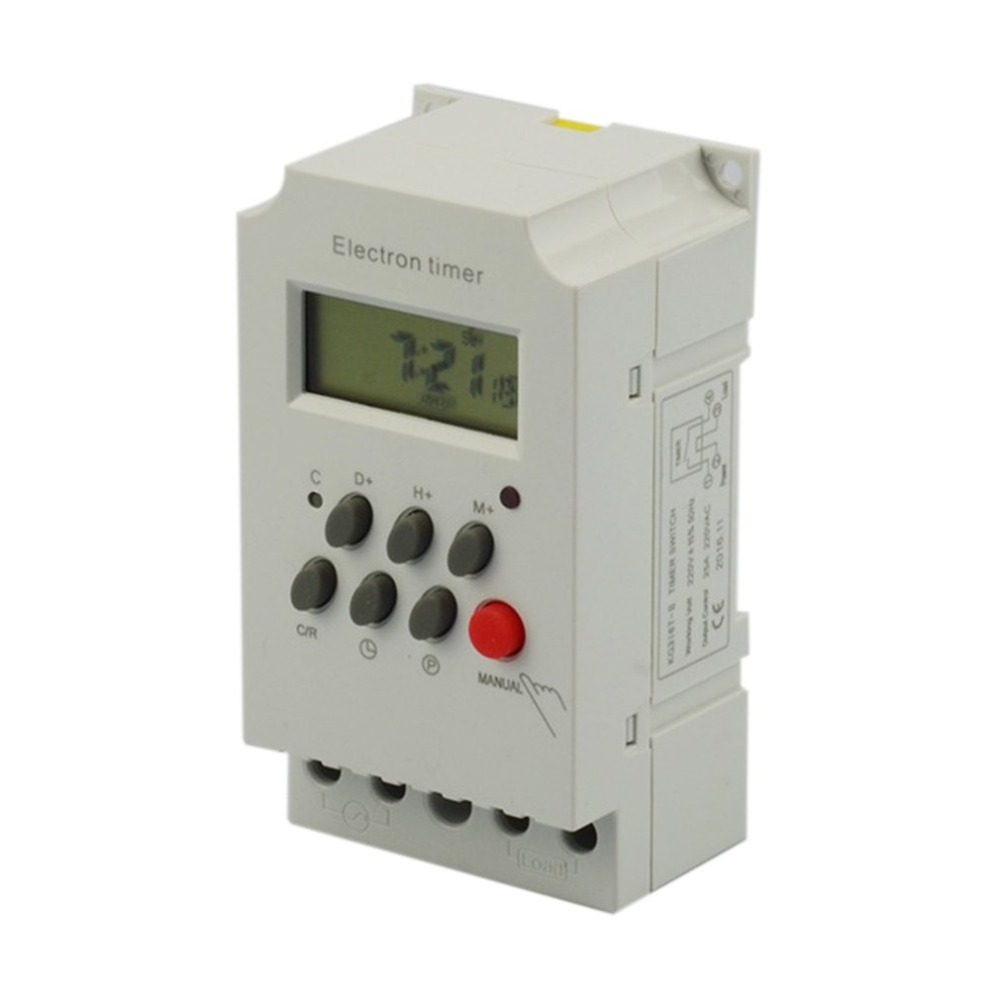 Computer & Office Kg316t-ii Mini Programmable Din Rail Digital Lcd Timer Switch Electronic Home Security Control Switch Automatic Timer Switch