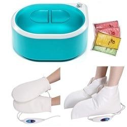 Máquina do calefator da parafina do aquecedor da cera 5l com botas elétricas aquecidas e luvas para a terapia térmica hidratante contínua
